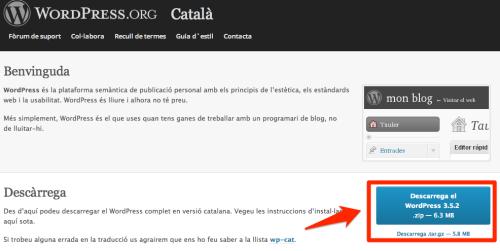 Descarrega WordpPress en Català