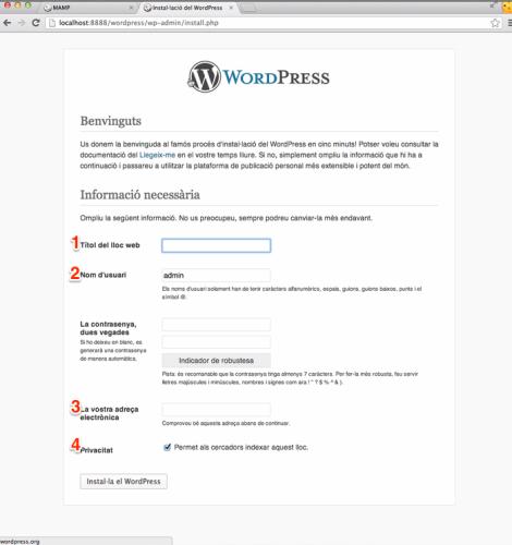 Instal·lador de WordPress