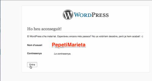 Felicitats WordPress!