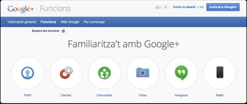 Google+ funcions