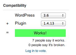 compatibilitat plugin versió actual