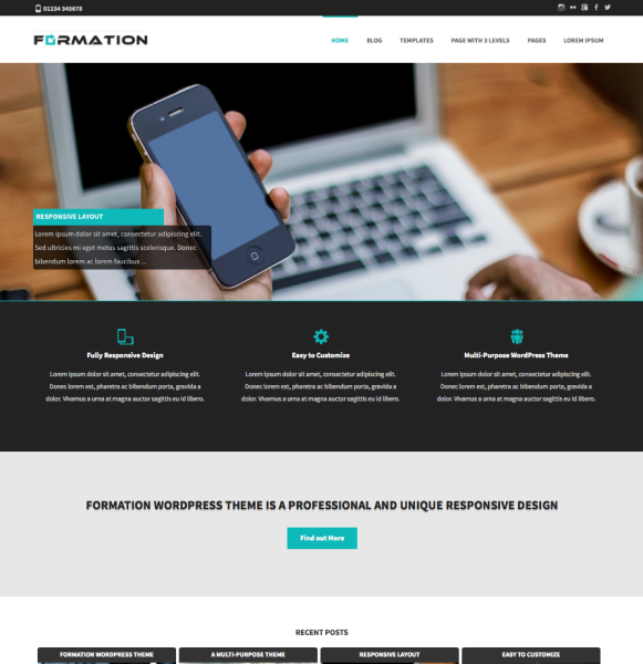 Formation WordPress Theme