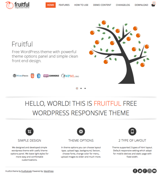 Fruitful WordPress Theme