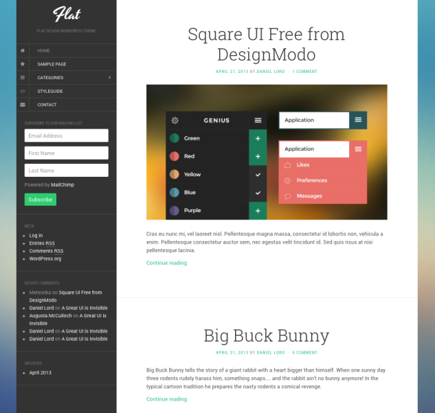 flatblog wordpress theme