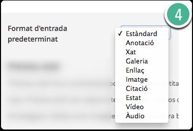 formats d'entrades wordpress