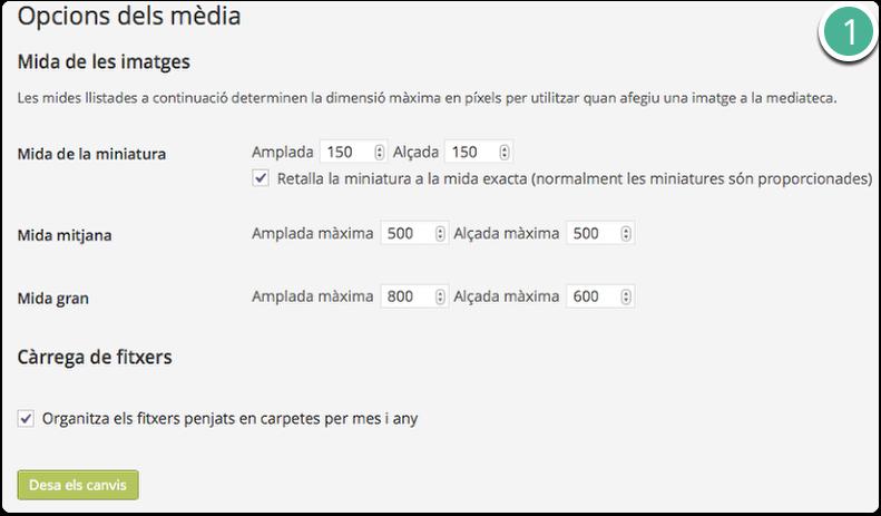 opcions mediateca wordpress
