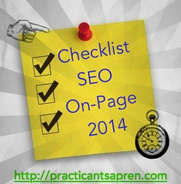 checklist seo onpage 2014