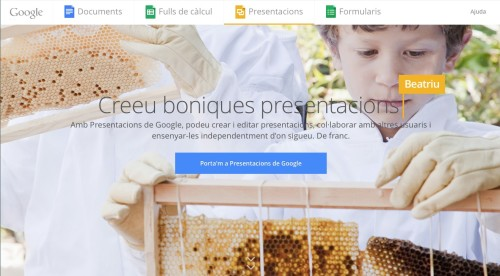 Google docs presentacions