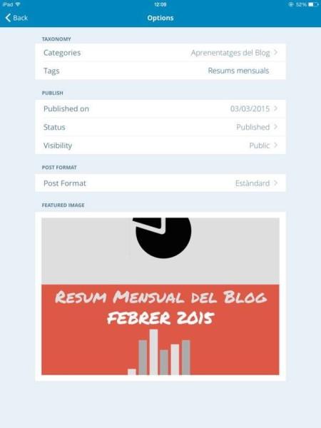app_iOS_wordpress opcions de publicació