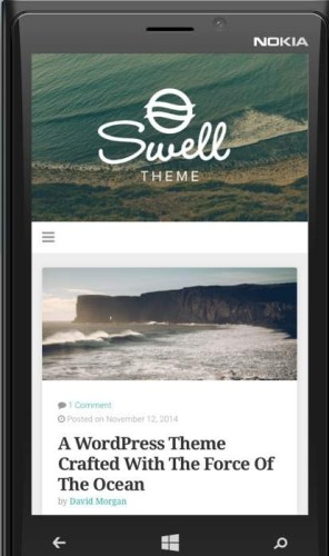 temes wordpress mobile friendly
