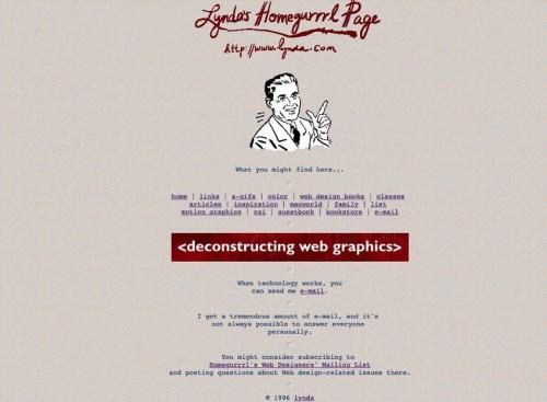 lynda-com pàgina original 1995