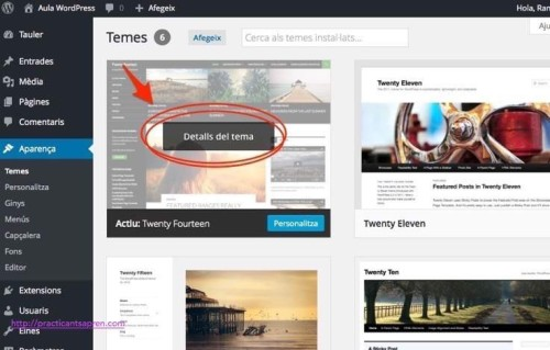 temes menus wordpress