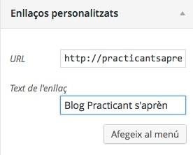 personalitzant temes wordpress: menús de navegació