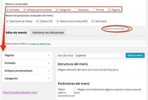 Personalitzant el temes wordpress: menús de navegació