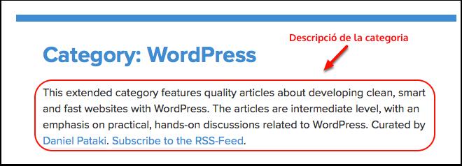categoria wordpress exemple