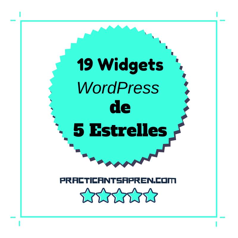 19 Widgets WordPress de (gairebé) 5 Estrelles ⭐️⭐️⭐️⭐️⭐️