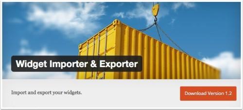 widget-importer-exporter 2