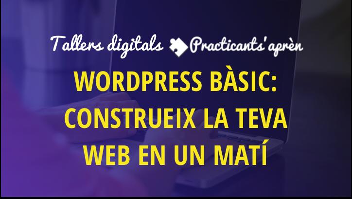 taller wordpress bàsic: Construeix la teva web en un matí